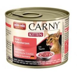 CARNY Kitten su jautiena ir kalakutų širdimis