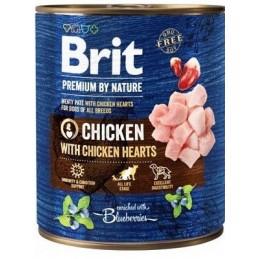 Brit Premium by Nature mėsos paštetas su vištiena ir vištų šidelėmis šunims