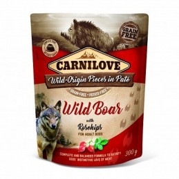 Carnilove kons. šunims Pate Wild Boar with Rosehips