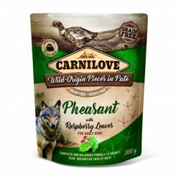 Carnilove kons. šunims Pate Pheasant with Raspberry Leaves