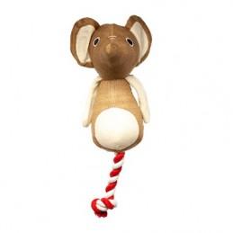 Žaislas šuniui peliukas su virve