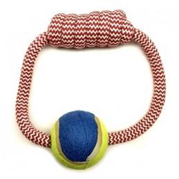 Teniso kamuoliukas su virve