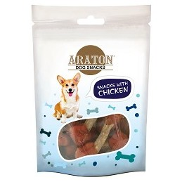 ARATON Kauliukai su vištiena 75 g